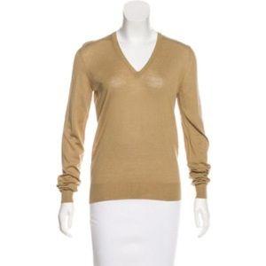 Yves Saint Laurent 100% Virgin Wool V-Neck Sweater